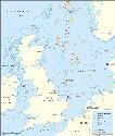This map of the North Sea shows the region's most...