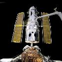 The Hubble Space Telescope in 1994, just after...
