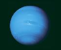 Neptune's blue-green atmosphere seen by Voyager...