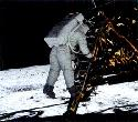 One small step for a man. Neil Armstrong stepped...