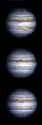 Three views of Jupiter: photographs taken from...
