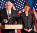 Senator John McCain and Alaska Governor Sarah...