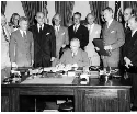 Truman signs the North Atlantic Treaty...