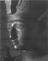 Ramses II (1290-1224BCE). Head of black granite...