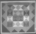 Harlequin Medallion Quilt. Artist unknown; c....