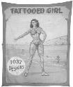 Tattooed Girl. Fred Johnson; c. 1940-1950. Paint...