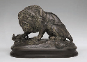 Antoine-Louis Barye, Lion Crushing a Serpent,...