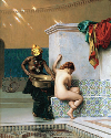 Jean-Léon Gérôme, Moorish Bath, 1870. Oil on...