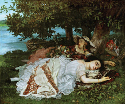 Gustave Courbet, Young Ladies on the Banks of the...