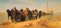 Ilya Repin, Bargehaulers on the Volga, 1873. Oil...