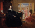 Richard Redgrave, The Governess, 1844. Oil on...