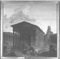 Robert Hubert, The Maison Carrée with the...