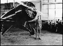 Charles Lindbergh during a visit to Caldwell...