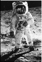 Apollo 11 lunar module pilot Buzz Aldrin walks on...