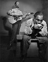 Blues instrumentalists Sonny Terry with his...
