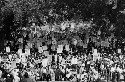 Participants in the historic March on Washington,...