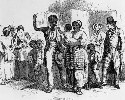 An 1860 depiction of a slave being sold away from...