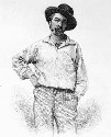 The dress and posture of Walt Whitman in this...