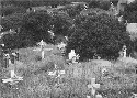 A Roman Catholic cemetery in New Mexico. The...