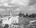 The Wailing Wall and the Dome of the Rock in...