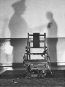 The electric chair at Sing Sing Prison,...