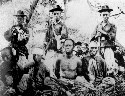 Korean soldiers and Chinese captives in the first...