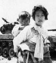 Korean civilians during the Korean War....