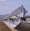 The parabolic-trough system concentrates heat...