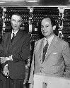 John von Neumann (right) poses with J. Robert...