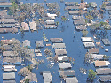 Views of inundated areas in New Orleans following...