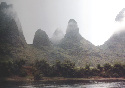 Karst topography, viewed from a boat on the Li...