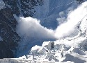 An avalanche in the Caucasus Mountains Source:...