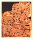 Clay tablet showing Nippur, the capital...