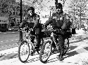 Bicycle police on patrol in the city of White...