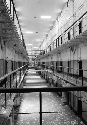 A cellblock in the Philadelphia County Prison....