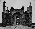 The Tomb of Akbar in Sikandra, India, in the late...
