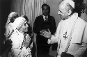 Pope Paul VI blesses Mother Teresa for her work...