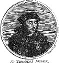 A modern engraved portrait of Sir Thomas More,...