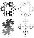 Three Self-Similar Fractal Shapes