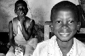 Kamarou, a child in Benin (right), is happy that...