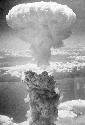 An atomic bomb test in the Bikini Atoll. Nuclear...