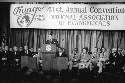President Reagan addresses the annual convention...