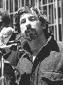 Tom Hayden speaks to students in 1969 at an...