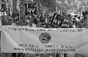 Demonstrators in support of the U.S. Socialist...