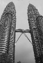 The immensely tall Petronus Towers in Kuala...