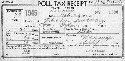 "A poll tax receipt for a ""colored female"" in..."