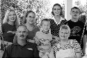 Family with five adopted, Russian-born children....