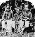 Hindu children of high caste, Bombay, India...