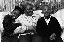 African American grandmother and grandchildren....