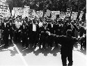 Civil rights march. African Americans and...